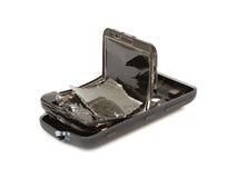 broken smartphone Fotografering för Bildbyråer