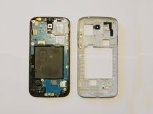 Broken smartphone disassembled Royalty Free Stock Photo