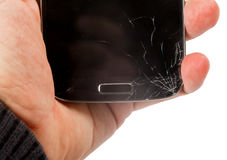 Broken smartphone display Royalty Free Stock Photography