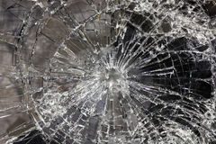 Broken  and smashed glass Stock Photography