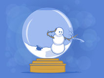 Broken Snow Globe Illustration Stock Images