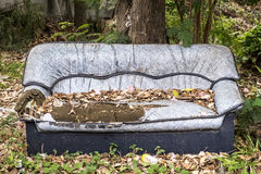 Broken sofa,abandon sofa Royalty Free Stock Photo
