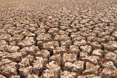Broken soil in dry season Royalty Free Stock Images