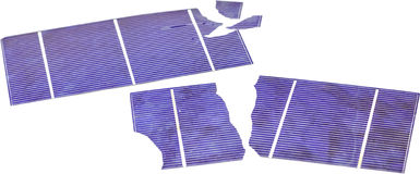 Broken Solar Cells. Broken photo voltaic solar cells Royalty Free Stock Image