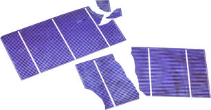 Broken Solar Cells. Broken photo voltaic solar cells Stock Photo