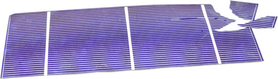 Broken Solar Cells. Broken photo voltaic solar cells Royalty Free Stock Images