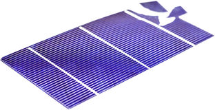 Broken Solar Cells. Broken photo voltaic solar cells Stock Images