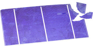 Broken Solar Cells Royalty Free Stock Photography