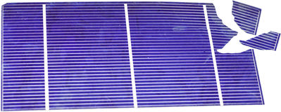 Broken Solar Cells. Broken photo voltaic solar cells Stock Photos