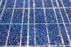 Broken solar panel Royalty Free Stock Photo
