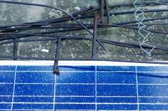 Broken solar panel Stock Photography