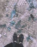 Broken soul. Broken glass symbolizes the soul Royalty Free Stock Photo