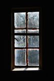 broken spöklikt fönster Arkivbilder