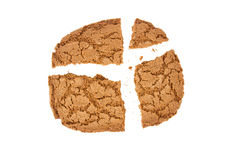 Broken speculaas biscuit, speciality from Holland Stock Image