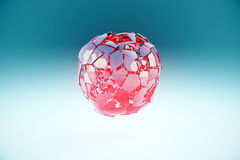 Broken sphere Royalty Free Stock Image