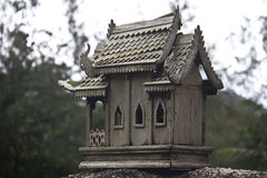 Broken spirit house in thailand Stock Photography