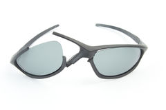 Broken sport style sunglasses Royalty Free Stock Photography