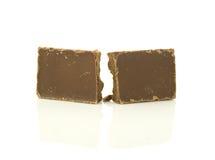 Broken stång av choklad Fotografering för Bildbyråer