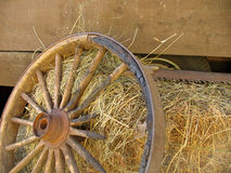 Broken Stagecoach Wheel, Landscape View (Offset) Royalty Free Stock Photography