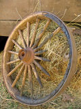 Broken Stagecoach Wheel, Portrait View Royalty Free Stock Image