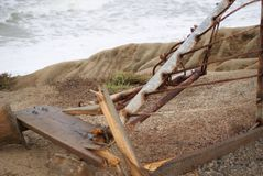 broken staket Royaltyfri Foto