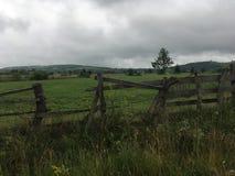 broken staket Royaltyfri Fotografi