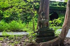 Broken statues of Buddha Stock Image