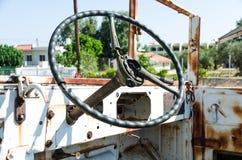 Broken steering wheel Stock Photo