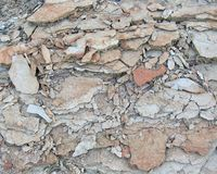 Broken stone back Royalty Free Stock Photos