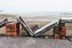 Broken Stone benches Royalty Free Stock Photography