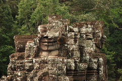 Broken Faces, Bayon temple, Angkor Wat, Cambodia Royalty Free Stock Image