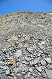 Broken stone fragmentation Stock Images