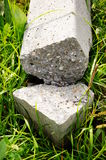 Broken stone pole Stock Photo