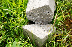 Broken stone pole Stock Image