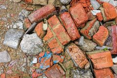 Broken stone texture and background royalty free stock images