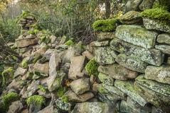 Broken Stone Wall Royalty Free Stock Images