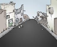 Broken street stock illustration