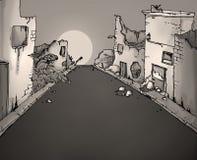 Broken street illustration Stock Photos