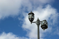 Broken street lamp Royalty Free Stock Photo