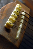Broken String. An image of a broken guitar string Royalty Free Stock Photography
