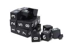 Broken sudoku cube Stock Images
