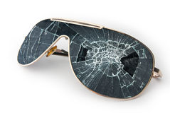 Broken sunglasses Royalty Free Stock Images