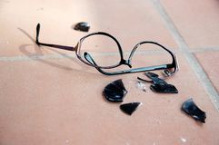 Broken Sunglasses Stock Images
