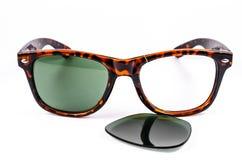 Broken sunglasses Stock Photos