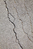 Broken surface from local road Stock Images