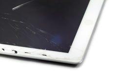 broken tablet arkivbilder