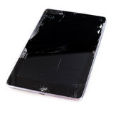 A broken tablet computer Royalty Free Stock Image