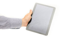 Broken tablet Royalty Free Stock Photos