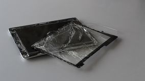 Broken tablet pc stock video