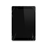 Broken tablet screen isolated. Computer monitor damage mock up. Stock Images